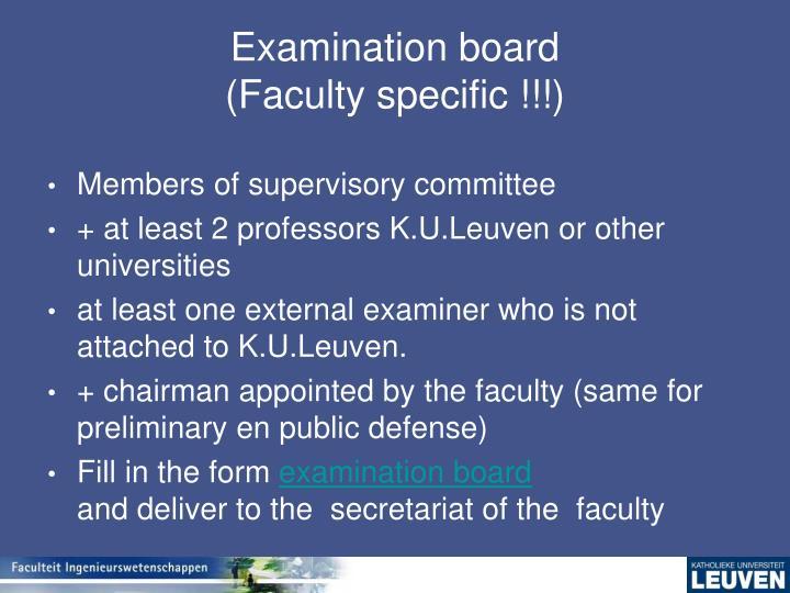 Examination board