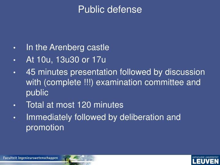 Public defense