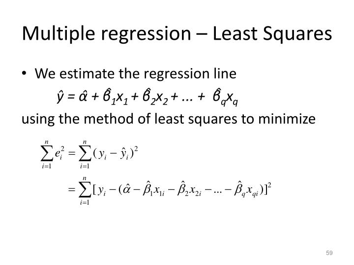 Multiple regression – Least Squares