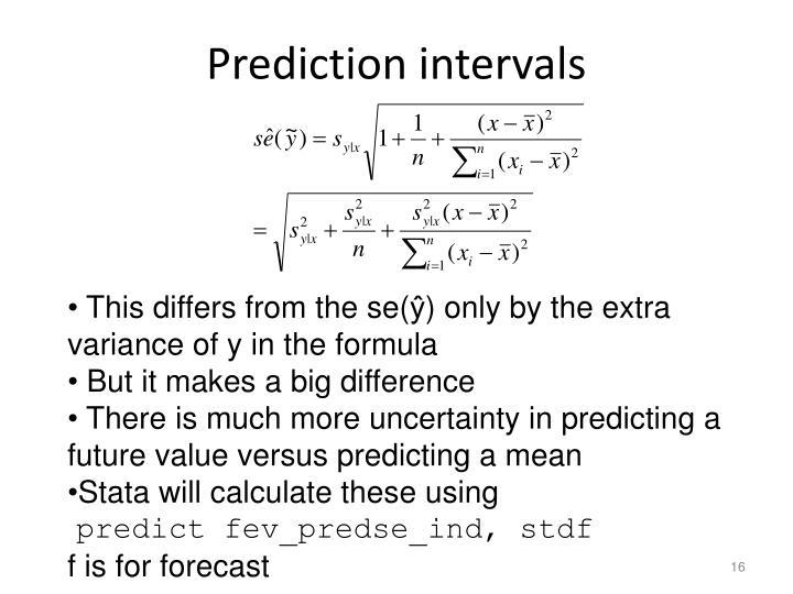 Prediction intervals