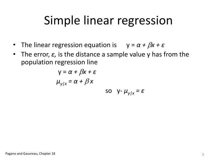 Simple linear regression1