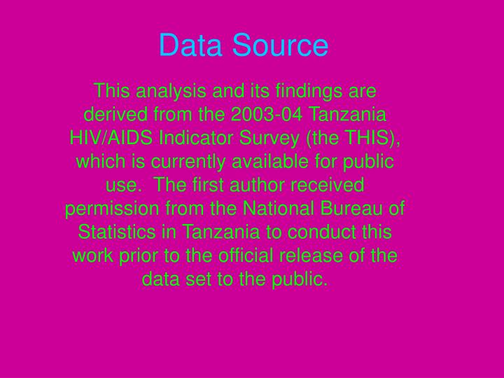 Data source