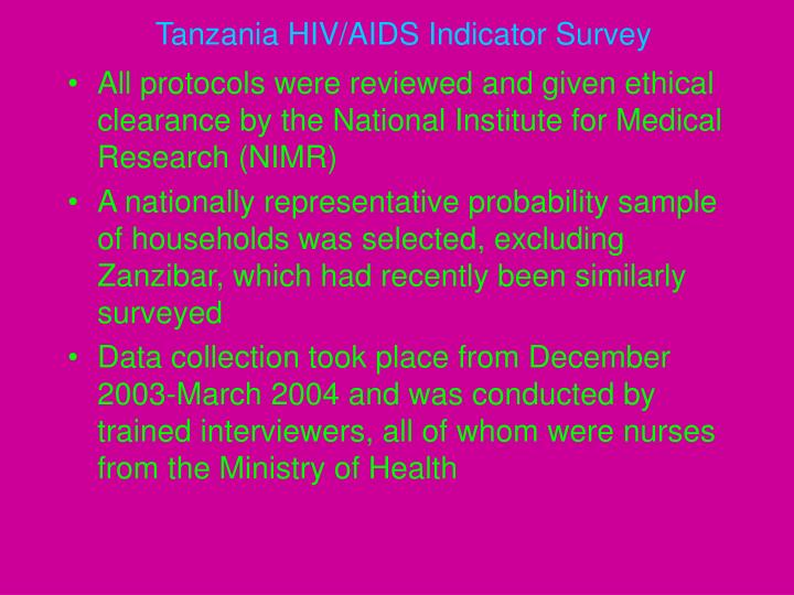 Tanzania HIV/AIDS Indicator Survey
