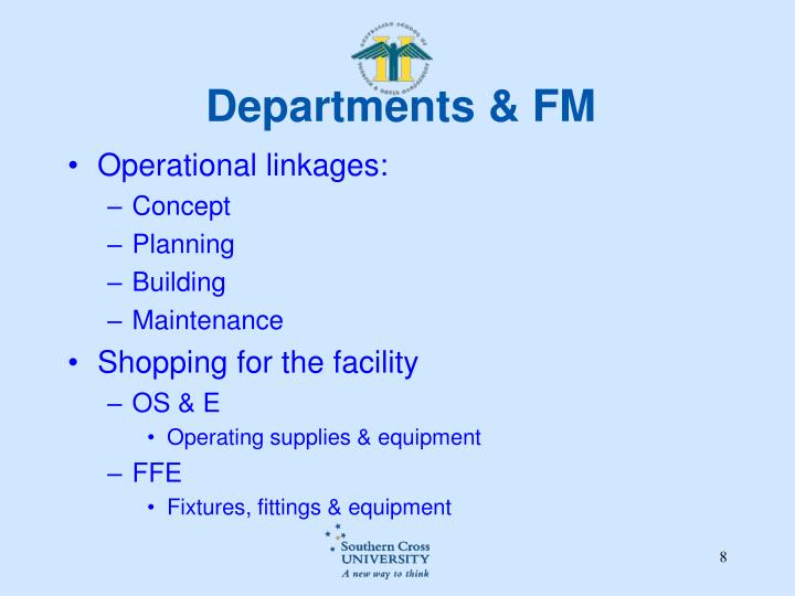 Departments & FM