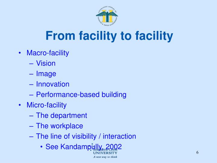 From facility to facility