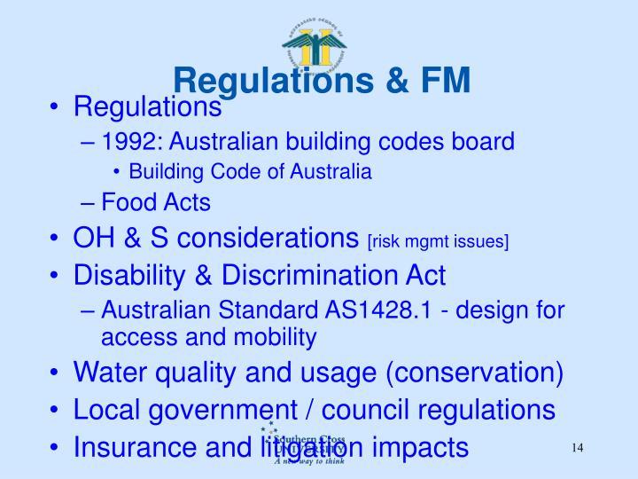 Regulations & FM