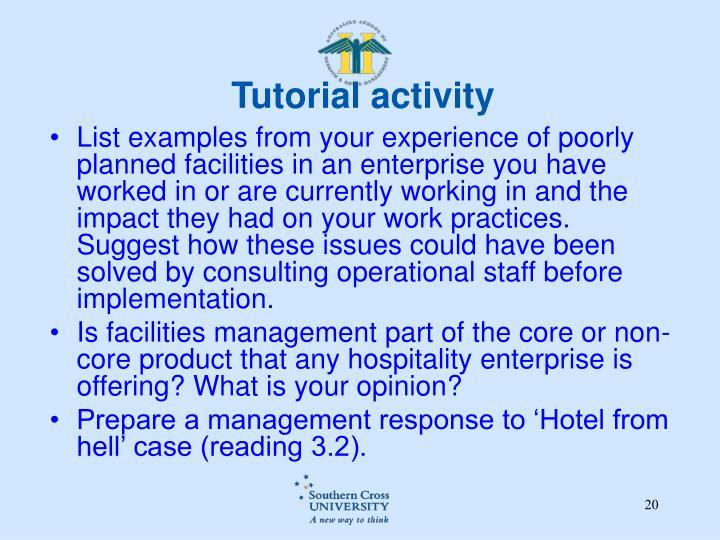 Tutorial activity