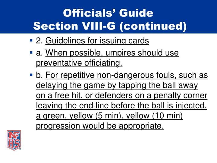 Officials' Guide