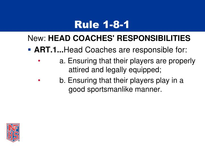 Rule 1-8-1