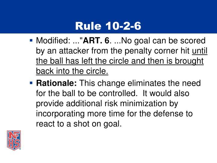 Rule 10-2-6