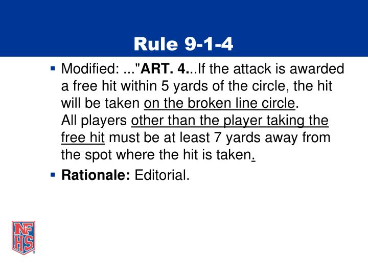 Rule 9-1-4