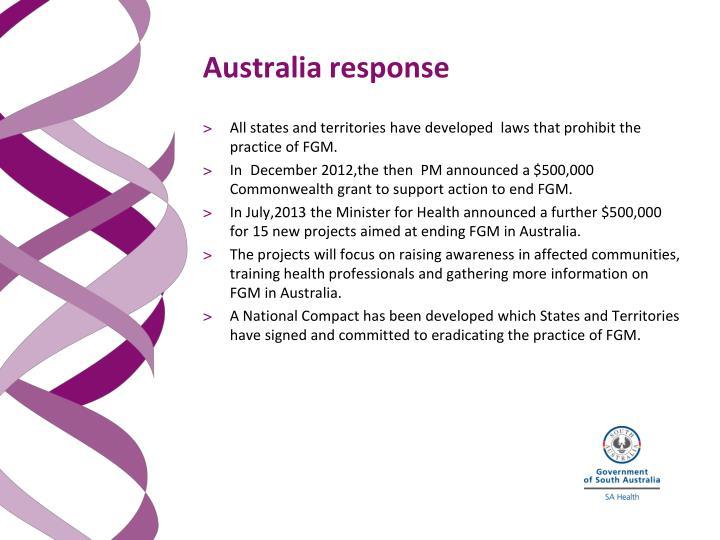 Australia response