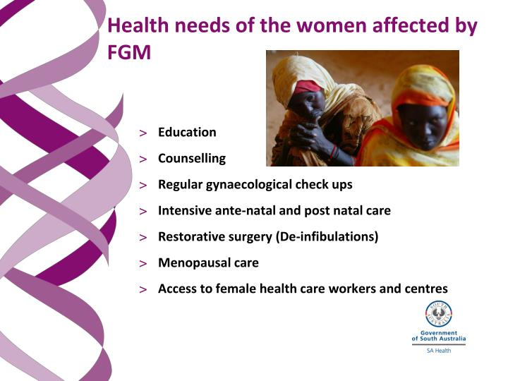 Health needs of the women affected by FGM