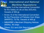 international and national maritime regulations