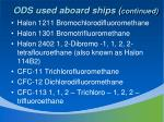 ods used aboard ships continued