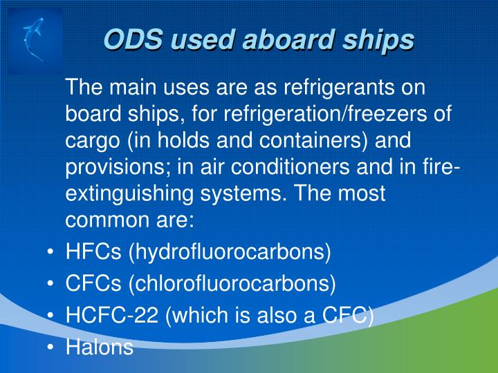 ODS used aboard ships