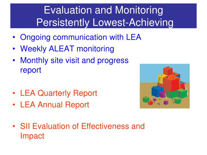 Evaluation and Monitoring