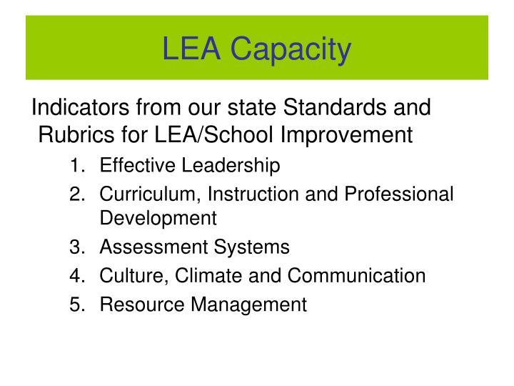 LEA Capacity
