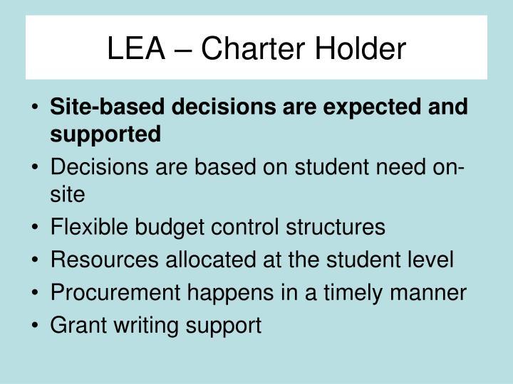 LEA – Charter Holder