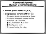 hormonal agents human growth hormone