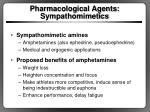pharmacological agents sympathomimetics