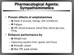 pharmacological agents sympathomimetics1