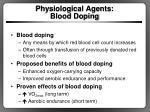 physiological agents blood doping