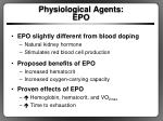 physiological agents epo