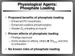 physiological agents phosphate loading