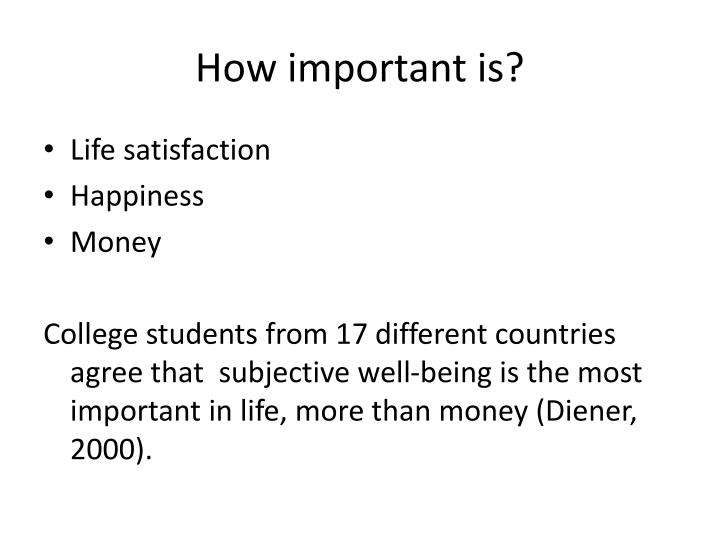 How important is