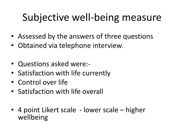 Subjective well-being measure