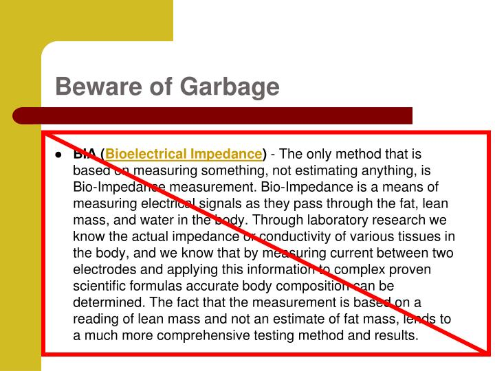 Beware of Garbage