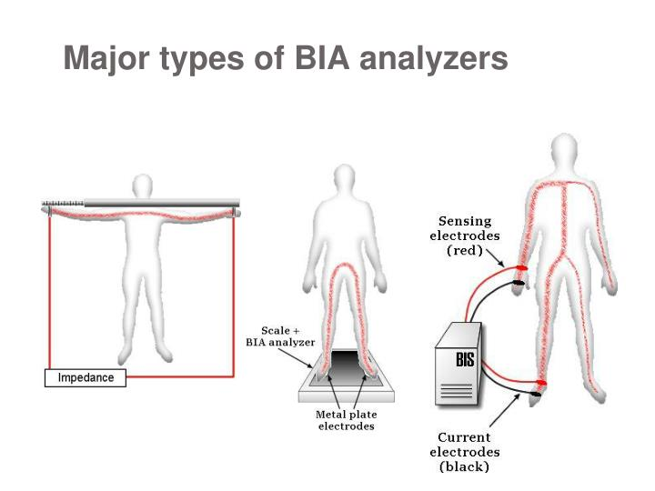 Major types of BIA analyzers