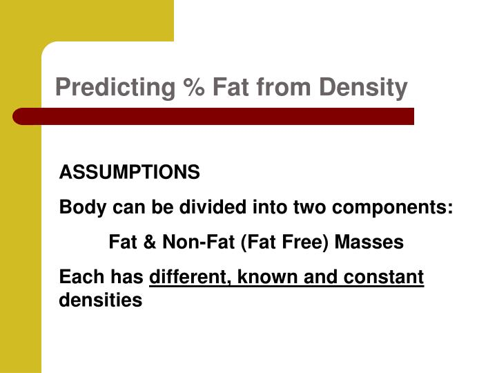 Predicting % Fat from Density