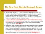 the new york obesity research center
