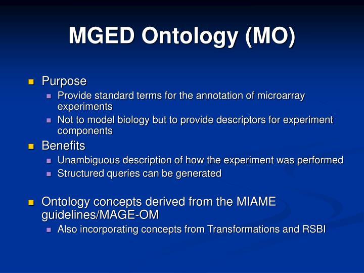 MGED Ontology (MO)