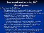 proposed methods for mo development2