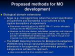 proposed methods for mo development3