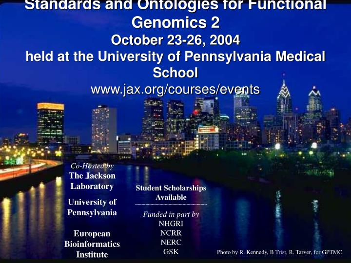 Standards and Ontologies for Functional Genomics 2