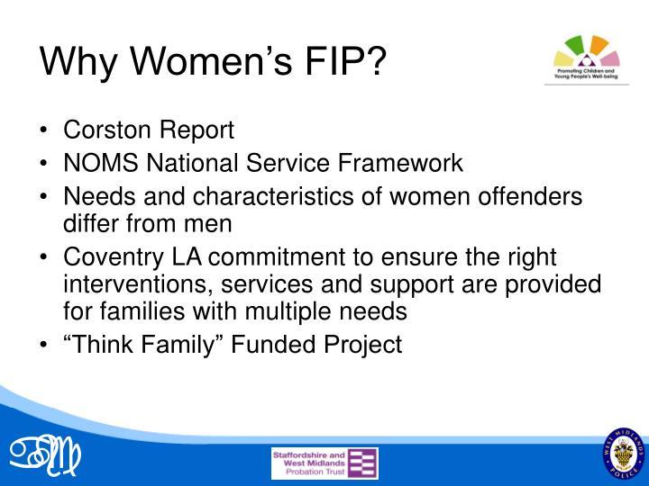 Why Women's FIP?