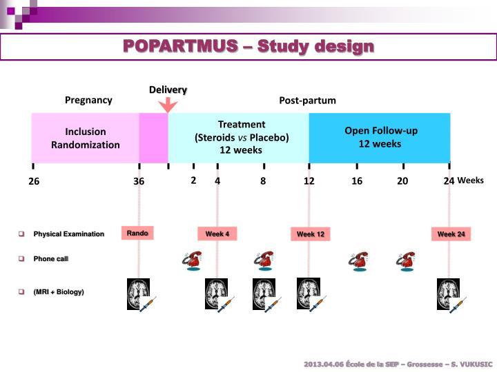 POPARTMUS – Study design