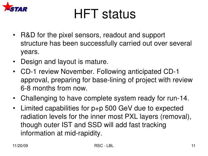HFT status