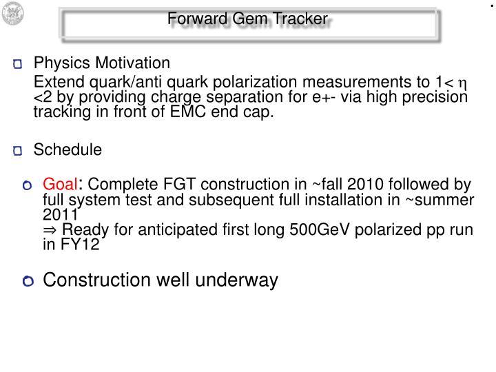 Forward Gem Tracker