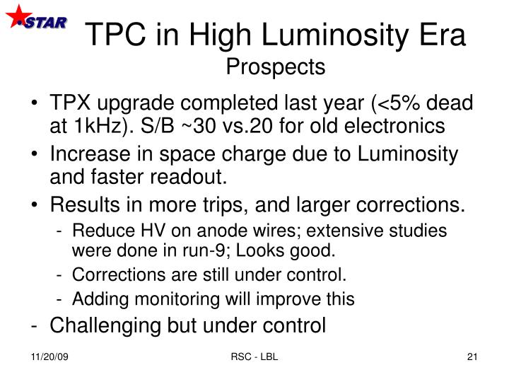 TPC in High Luminosity Era