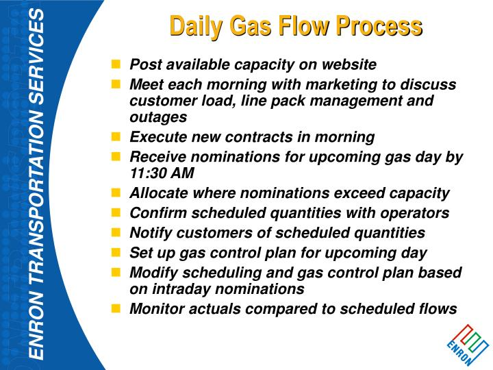 Daily Gas Flow Process