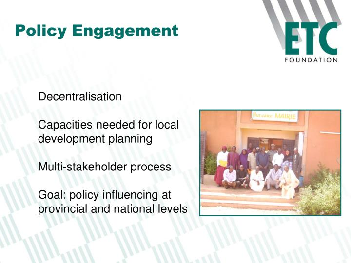 Policy Engagement