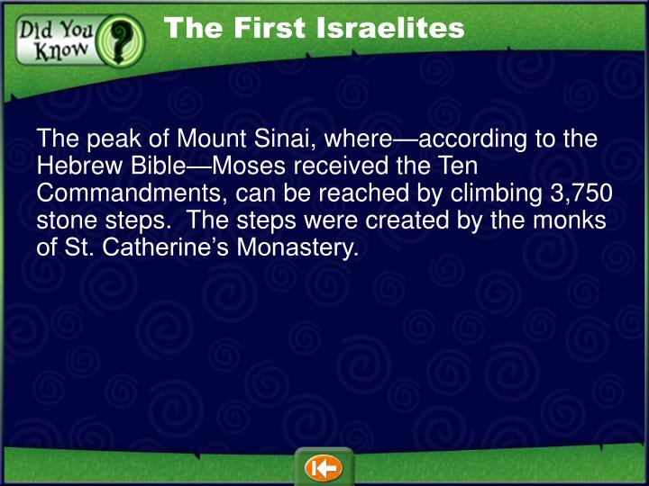 The First Israelites