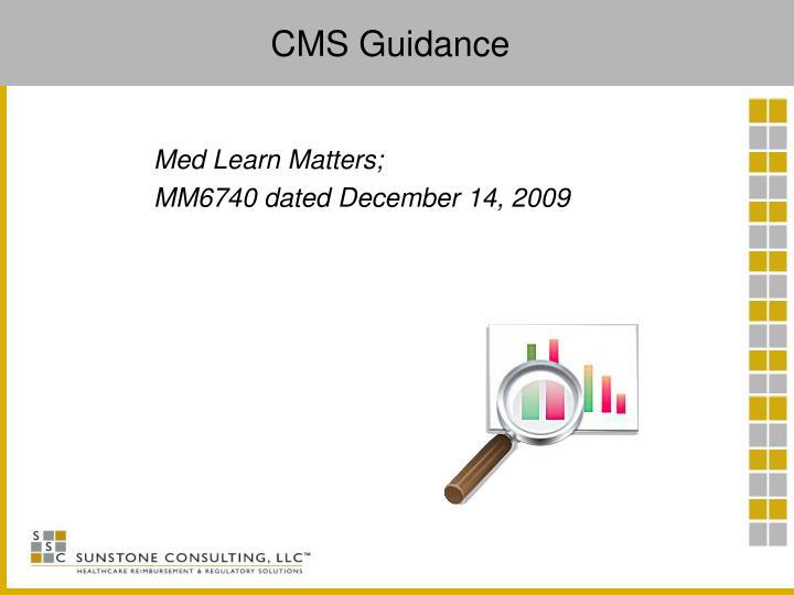 CMS Guidance