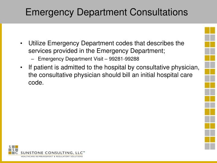 Emergency Department Consultations