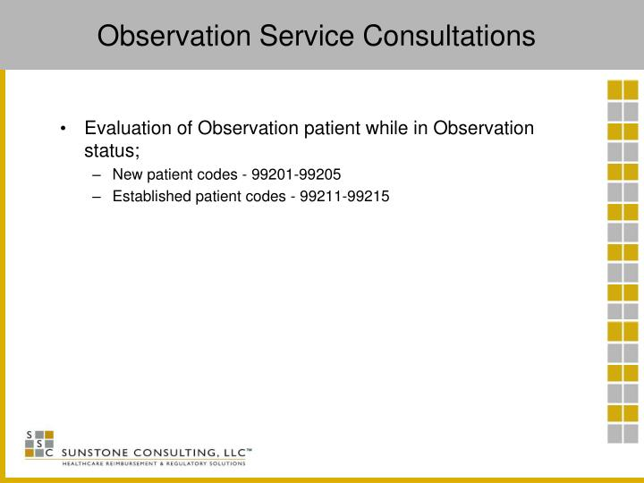 Observation Service Consultations